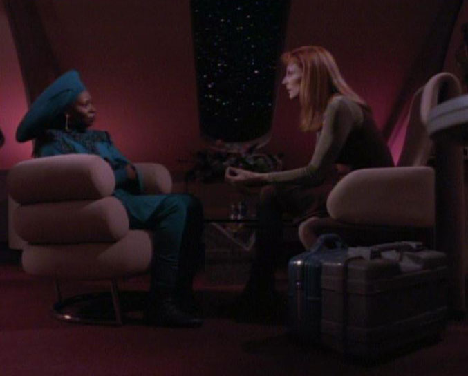 Guinan and Beverly Crusher, 2369.jpg
