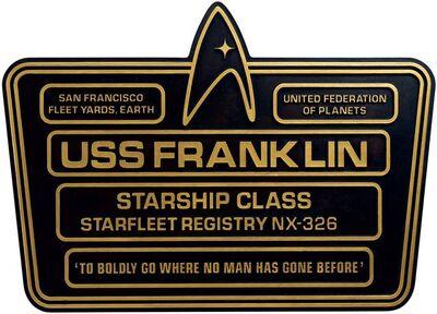 Raumschiffsammlung Widmungsplakette Franklin.jpg