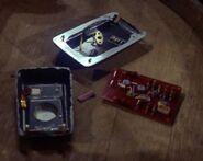 Starfleet communicator, 2260s disassembled