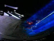 Destruktionsstrahl gegen USSMelbourne