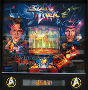 Data East Star Trek pinball backglass