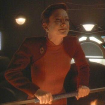 Kira Nerys as Lela Dax during Jadzia's zhian'tara