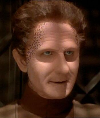 Odo as Curzon Dax during Jadzia's zhian'tara (2371)