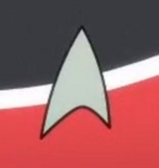 Starfleet combadge, early 2380s