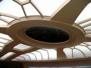 Deckenfenster auf der Brücke der Enterprise-D