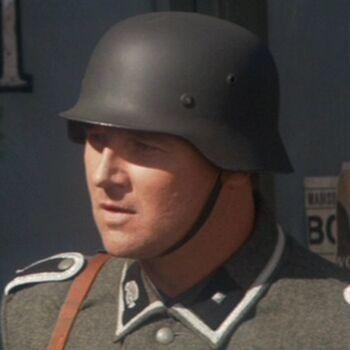...as a Nazi sergeant