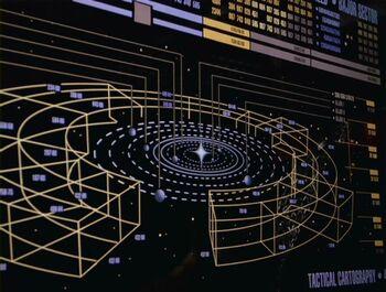 LCARS diagram of the Bajoran system