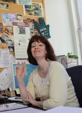 Margaret Clark in her office at Pocket Books, ca. 2009