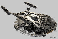 Columbia Konstruktion CGI-Modell
