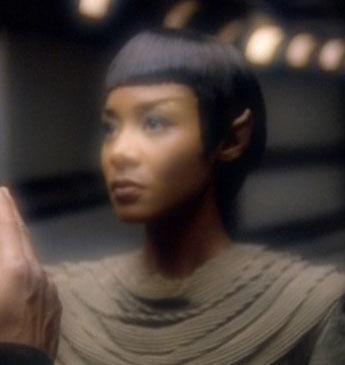 T'Pel as imagined by Tuvok in 2375