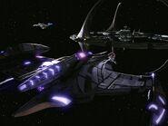 Jem'Hadar battle cruiser, aft
