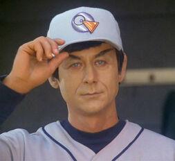 Captain Solok, in his baseball gear
