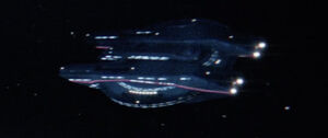 USS Cabot, dorsal view