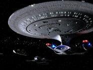 USS Enterprise-D at Qualor II, remastered