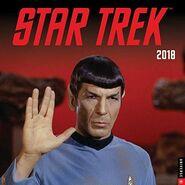 Star Trek Calendar 2018 cover