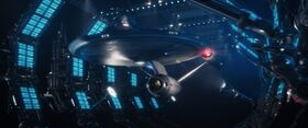 USS Enterprise in Spacedock