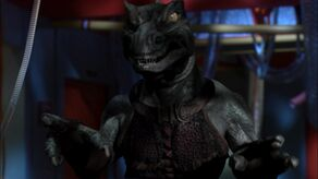 Slar, a mirror universe Gorn on the USS Defiant (2155)