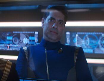 Captain Diego Vela in 2257