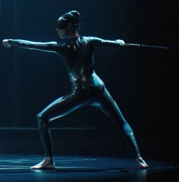 ...as a Silk dancer