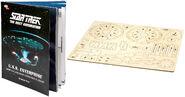 IncrediBuilds USS Enterprise-D booklet and model kit
