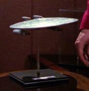 USS Melbourne-dedication model