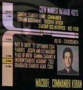 Keiran MacDuff personnel file