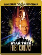 Star Trek First Contact Blu-ray cover Region B steelbook reissue