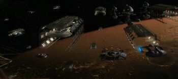 The Utopia Planitia Fleet Yards, orbital construction facilities, 2371