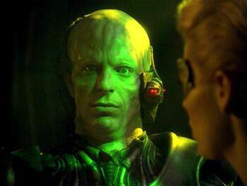 Magnus Hansen as a Borg drone (2375)