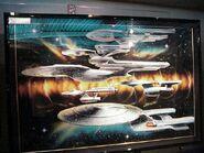 STTE-Five USS Enterprises painting