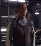 Starfleet arctic gear shirt, 2140s-early 2160s