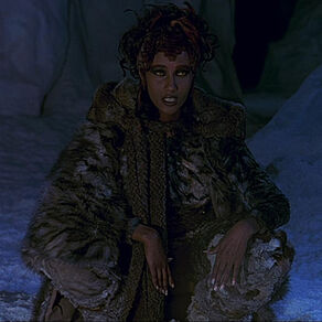 Martia, a chameloid, in heavy fur clothing