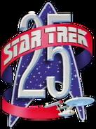 Star Trek 25th anniversary logo