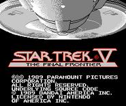 Bandai Star Trek V video game