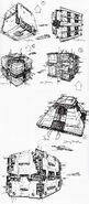 Borg tactical cube design sketches by Doug Drexler
