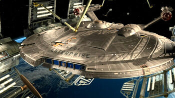 <i>Enterprise</i> being repaired in 2154
