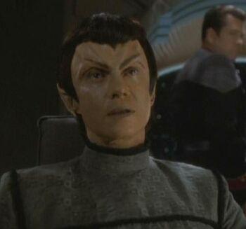 Senator Kimara Cretak on Deep Space 9 (2375)