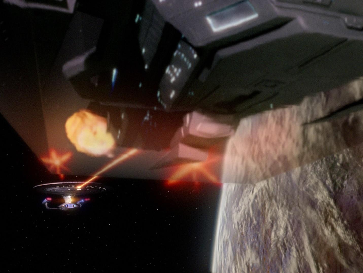 Enterprise kämpft im Orbit von Delta Rana IV.jpg