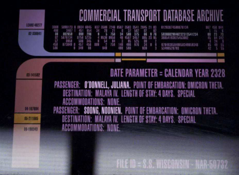 Commercial transport database