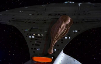 Junior attached to the Enterprise