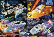 Playmates Phoenix and Starfleet Shuttles