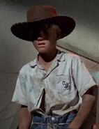 Only boy in cowboy hat