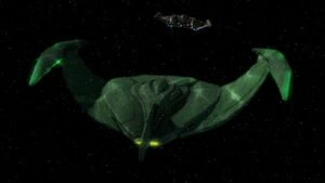 Romulan bird-of-prey, ENT-aft, cloaking