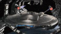Enterprise opuszcza stocznię w orbicie Ziemi