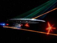 USS Enterprise-D fires all weapons
