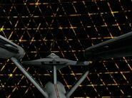 USS Enterprise and Tholian web - aft, remastered