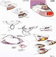 USS Enterprise refit bridge and impulse engines design evolution by Andrew Probert