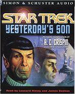 Yesterdays Son audiobook cover, 2000