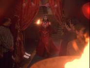 Jadzia dax in a klingon wedding dress