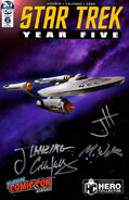 Star Trek Year Five issue 6 cover Eaglemoss NYCC 2019 autographed